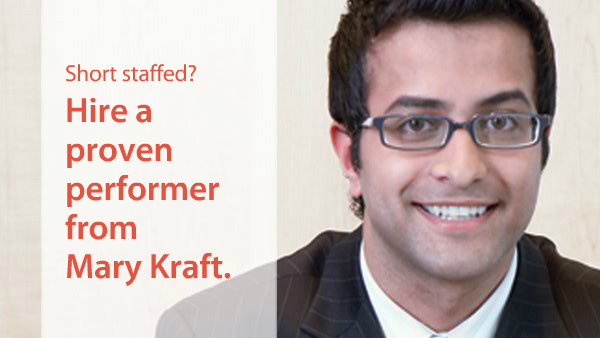 Hire a proven performer from Mary Kraft